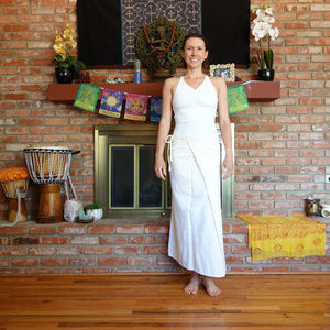 Natural Cotton Thai wrap tie skirt